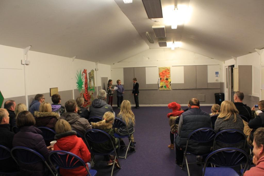 Christmas play and audience