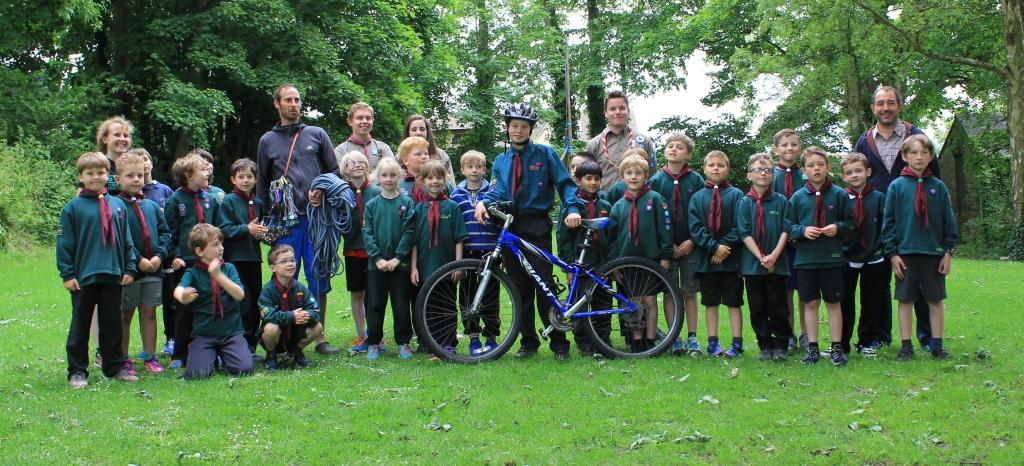 Cub pack with fundraisers